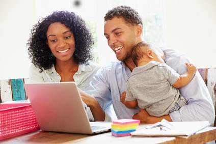 Happy Working Family